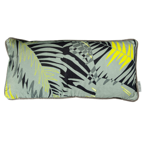 TUNKUN PALM CUSHION - ASH GREY 30x60