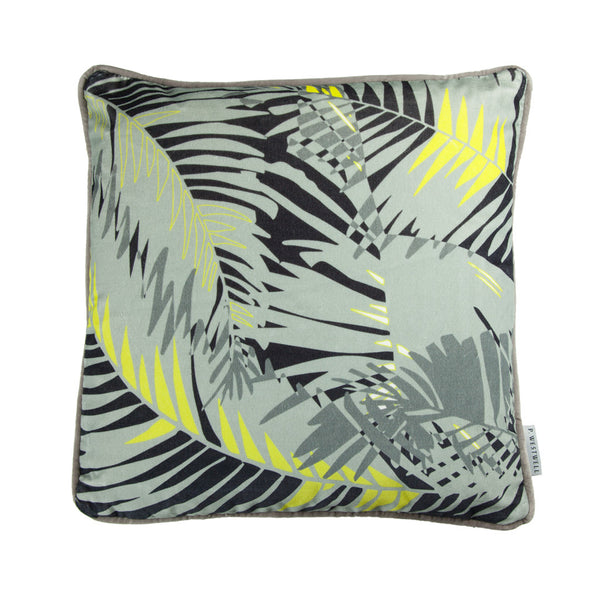 TUNKUN PALM CUSHION - ASH GREY 45x45