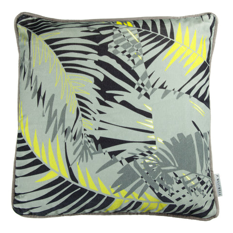 TUNKUN PALM CUSHION - ASH GREY 60x60