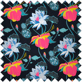 FASHION SILK FABRIC - LOBISCUS LAKE BLACK