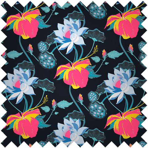 FASHION SILK SAMPLE - LOBISCUS LAKE BLACK
