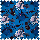 FASHION SILK FABRIC - LOBISCUS LUSTROUS BLUE