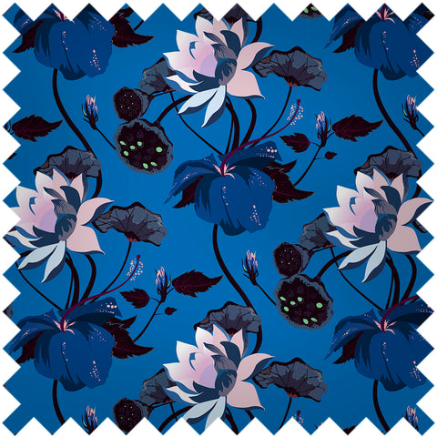 FASHION SILK SAMPLE - LOBISCUS LUSTROUS BLUE