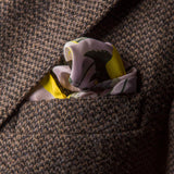 Pocket Square - Tunkun Palm ash Grey
