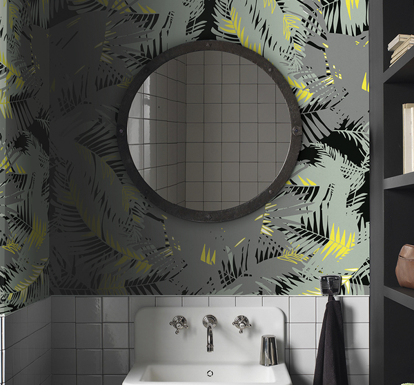 WALLPAPER - TUNKUN PALM ASH GREY