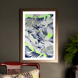 TUNKUN PALM UNFRAMED A2 PRINT ASH GREY