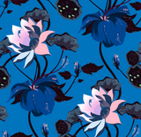 Wallpaper Sample Lobiscus Lustrous Blue