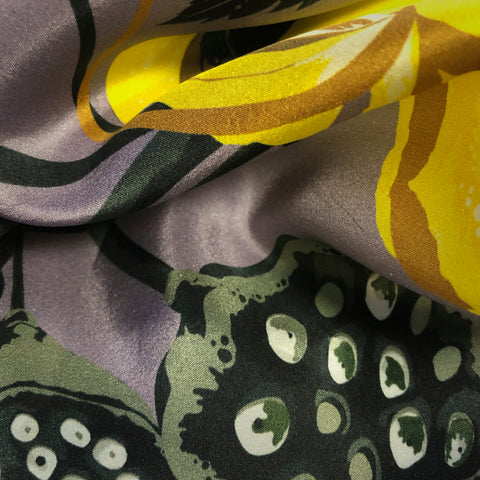 FASHION SILK FABRIC - LOBISCUS FURVOR PURPLE