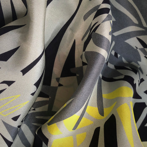 FASHION SILK FABRIC - TUNKUN PALM ASH