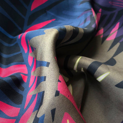 FASHION SILK FABRIC - TUNKUN PALM TROPICAL