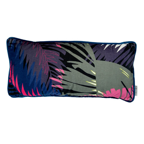 TUNKUN PALM CUSHION - TROPICAL PURPLE 30x60