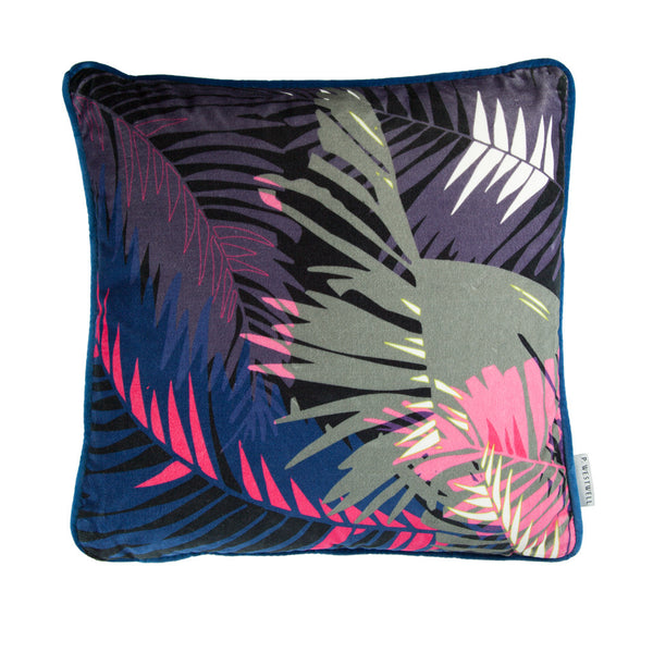TUNKUN PALM CUSHION - TROPICAL PURPLE 45x45