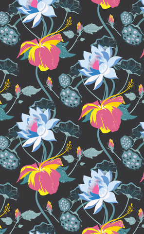 Cotton Tea Towels - Lobiscus Lake Black