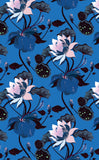 Cotton Tea Towels - Lobiscus Lustrous Blue