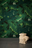 WALLPAPER - TUNKUN PALM VERDUROUS GREEN - LARGE FORMAT