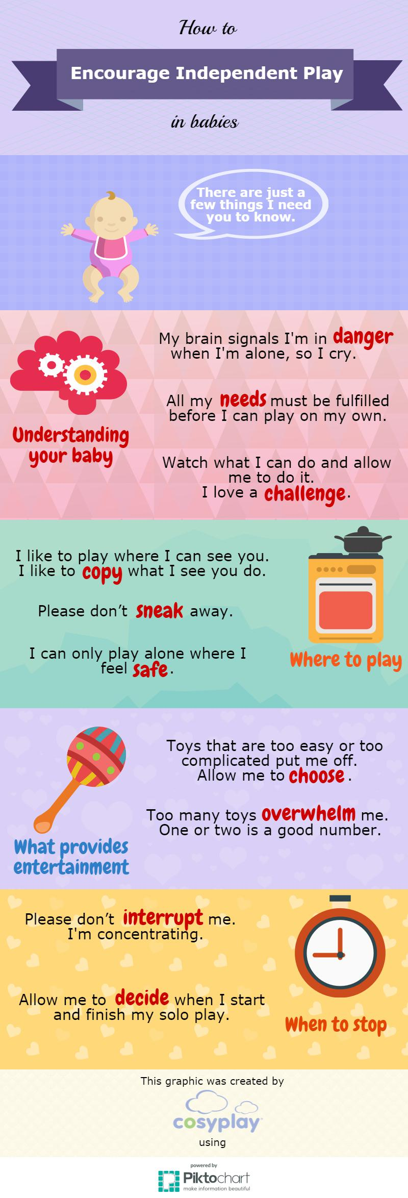 Independent play for babies tips