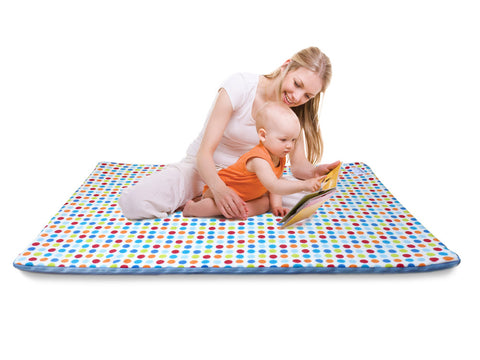 Baby play mat with mum and baby