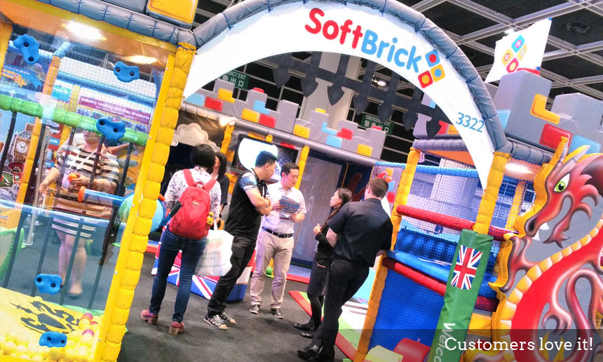 Soft Brick IAAPA Hong Kong Customers