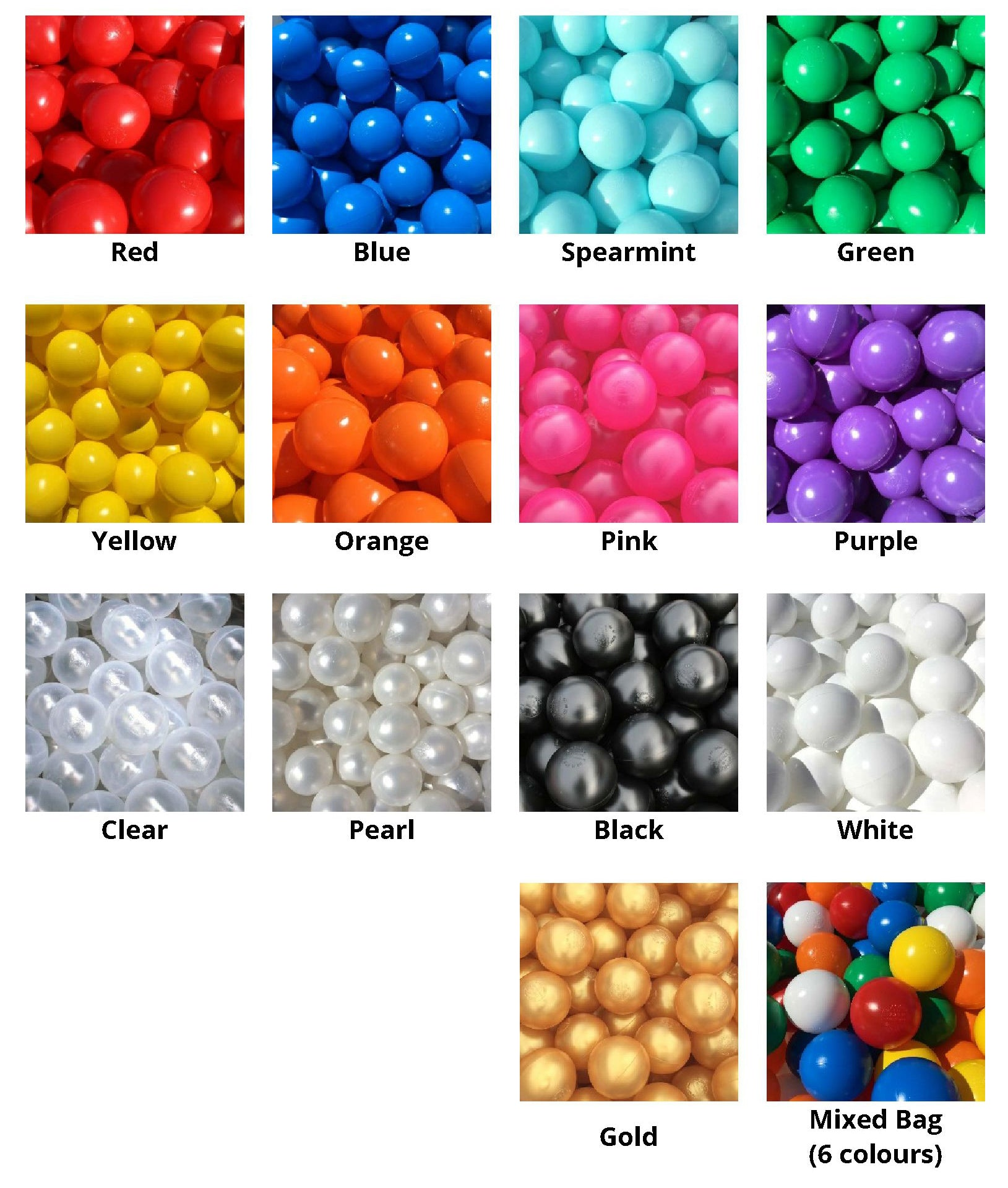 ball pool ball colours by Soft Brick Company