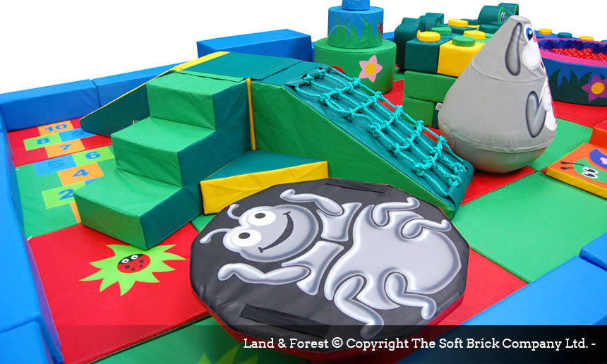 Land Forest Soft Play Packaway kit by Soft Brick