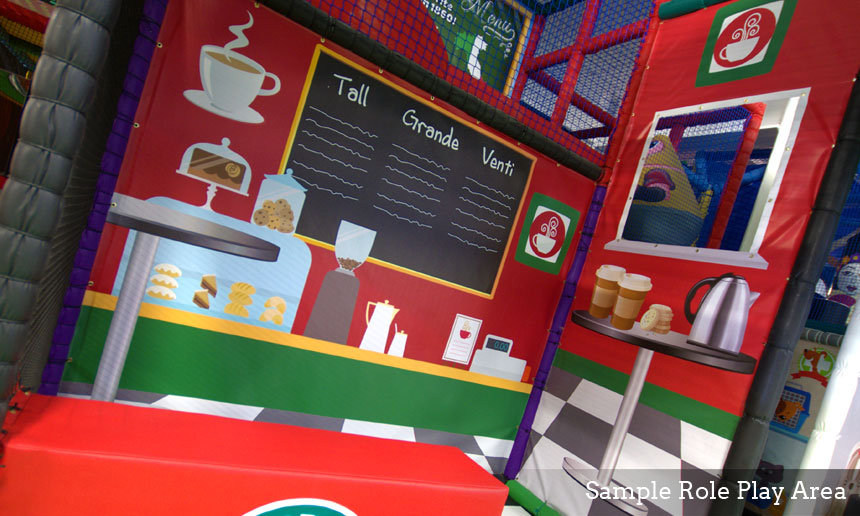 Coffee Shop at Soft Play Structure