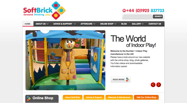 Softbrick.co.uk - first online retailer in the Indoor Play market - launches new website on softbrick.co.uk!