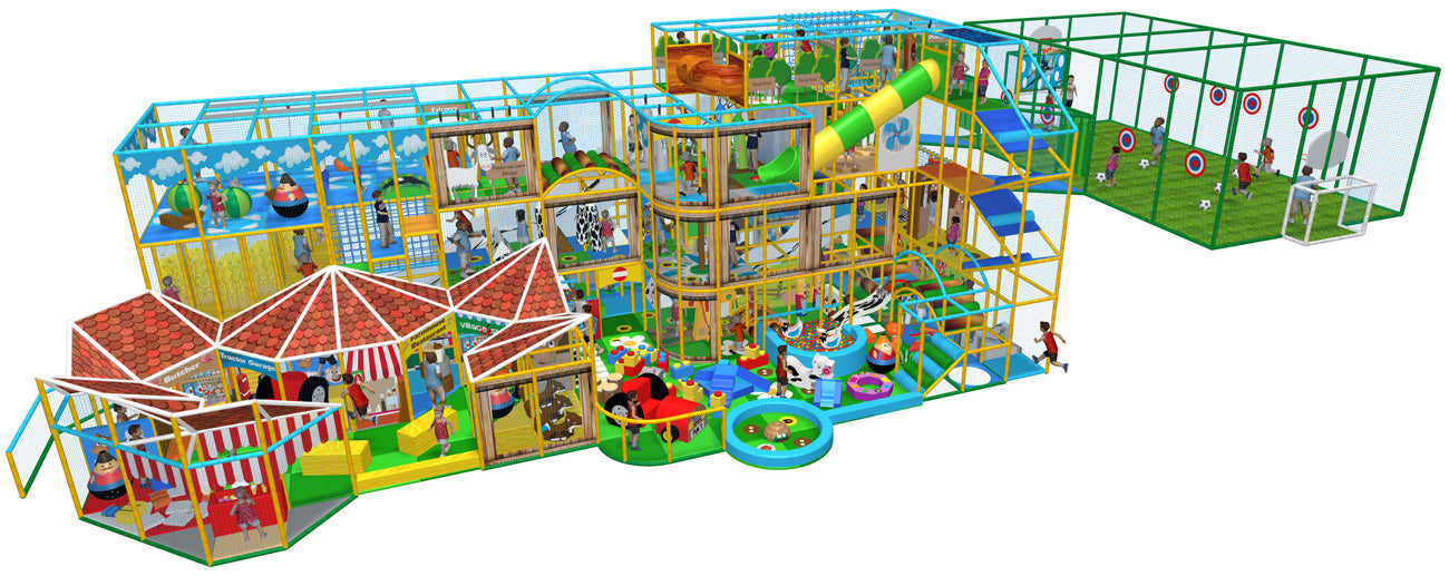 indoor soft play design by the soft brick company
