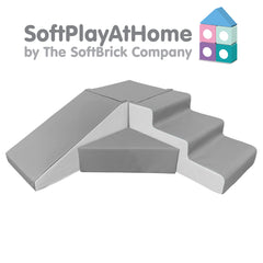 Soft Play at Home - 400 Series Step & Slide Corner Set - 99 colour combinations - FREE Delivery!