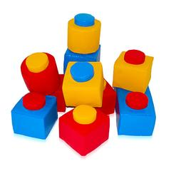 10 Piece Red Blue and Yellow Soft Play Bricks