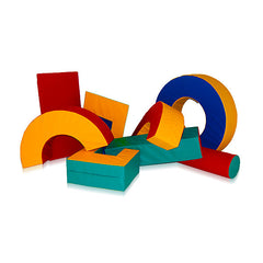 Eight Piece Soft Play Agility Set & Floor Mat - The Soft Brick Company