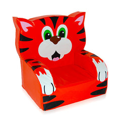 Tiger Themed Soft Play Chair - The Soft Brick Company