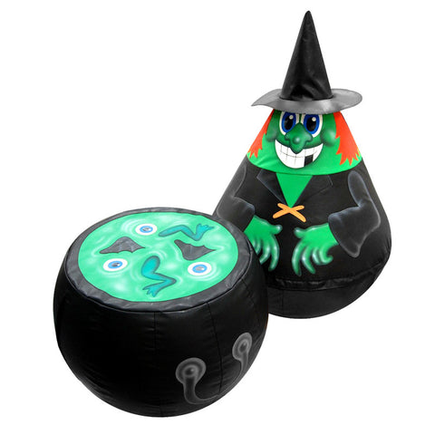 Witch Wobbly Character & Cauldron