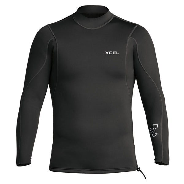 XCEL - MEN'S AXIS LONG SLEEVE TOP 2/1MM - BLACK