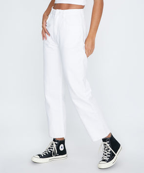 Afends - Shelby High Waist Jeans - White