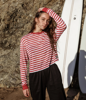 Pukas - Nineteen's Striped Top - Mocha