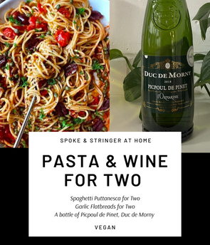 Pasta & Wine Night in for Two - Vegan