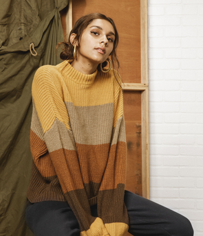 Brixton -  Madero Sweater - Honey Gold