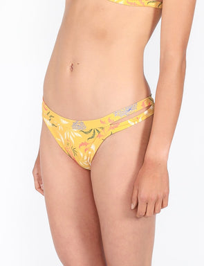 Pukas - Double Strap Bottom - Yellow Feline