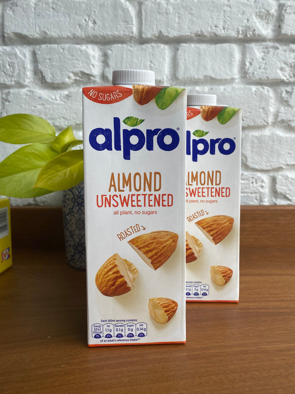 Almond milk (unsweetened) - 2 cartons
