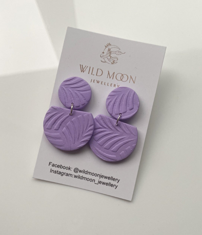 Athena Circle Lilac - Wild Moon Jewellery