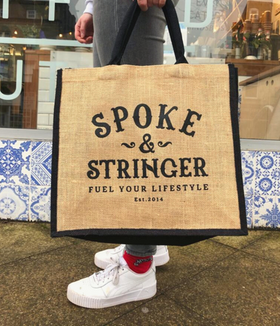 Spoke & Stringer Jute Bag for Life