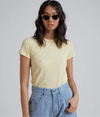 Afends - Hemp Basics Standard Fit Tee - Yellow