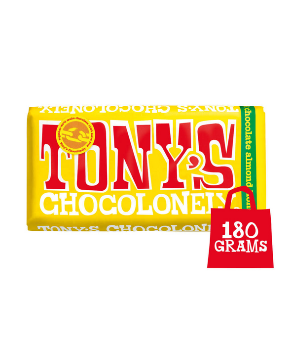 Tony Chocolonely - Almond Honey Nougat Chocolate 180g