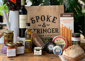 Spoke & Stringer - Deluxe Cheese & Wine for Two Hamper