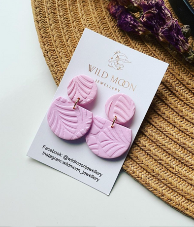 Athena Circle Blush - Wild Moon Jewellery