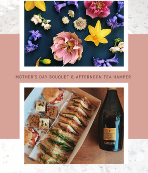 Mother's Day Bouquet & Afternoon Tea Hamper