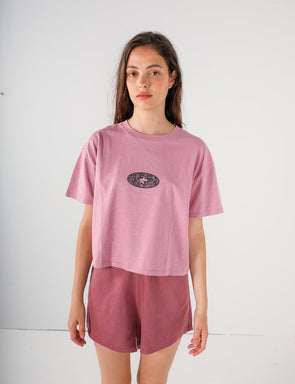 Pukas - Cropped Scratch Tee - Lilac