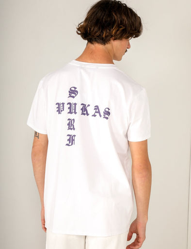 Pukas - Crossed Tee - White