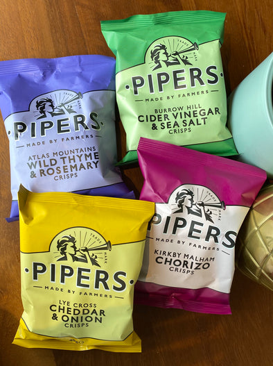 Pipers Crisps x 6 Assorted flavours 40g