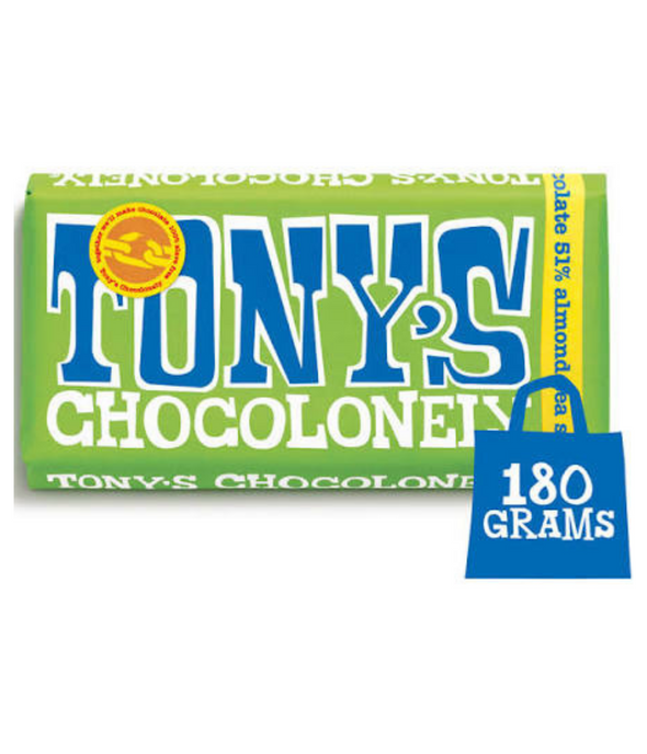 Tony Chocolonely - Dark Almond Sea Salt Chocolate 180g (Vegan)